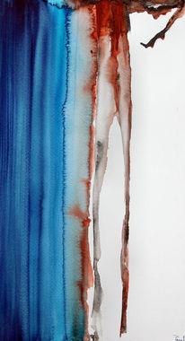 Abstrakt, Blau, Wasser, Rot