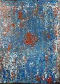 Blau, Rot, Traum, Malerei