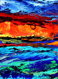 Flut, Himmel, Wasser, Malerei