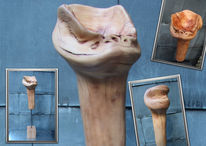Holz, Skulptur, Apfel, Kunsthandwerk