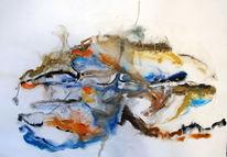 Muschel, Gouachemalerei, Abstrakt, Aquarell
