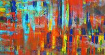 Bunt, Neugier, Abstrakt, Malerei