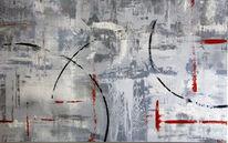 Grau, Rot schwarz, Schwingen, Abstrakt
