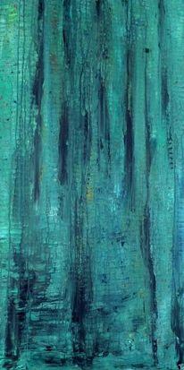 Baum, Grün, Dunkel, Abstrakt