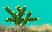 Himmel, Blumen, Kaktus, Warm