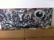 Kopf, Menschen, Abstrakt, Malerei
