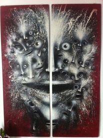 Menschen, Kopf, Abstrakt, Malerei