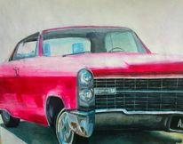 Cadillac, Pink, Auto, Malerei