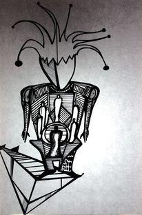 Schwarz weiß, Abstrakt, Zeichnung, Zeichnungen