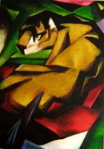 Franz marc, Tiger, Kubismus,