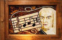 Mosaik, Glas, Portrait, Mosaikkunst