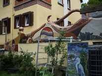 Fassade, Mosaik, Kunst am bau, Mosaikkunst