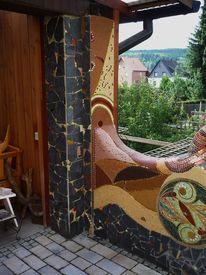 Fassade, Mosaik, Kunst am bau, Mauer
