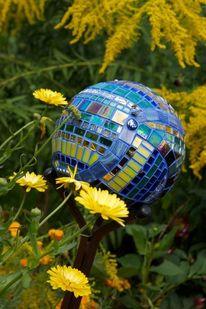 Spiegel, Mosaikkunst, Garten, Mosaik