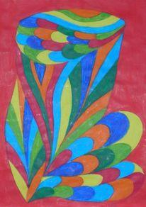 Bunt, Fantasie, Blume1, Wasser