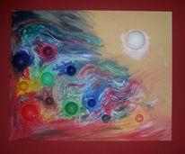 Menschen, Acrylmalerei, Chaos, Verwirrung