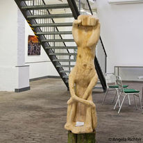 Surreal, Menschen, Baum, Kettensäge