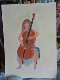 Cello, Malerei, Figural