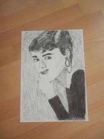 Portrait, Audrey hepburn, Zeichnungen