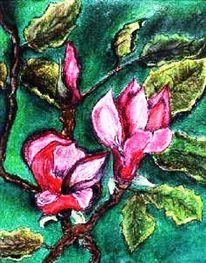 Pastellmalerei, Natur, Blüte, Gemälde