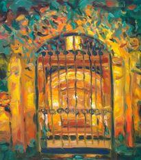 Goldenerkäfig, Ölmalerei, Expressiver realismus, Malerei