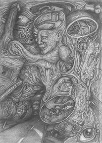 Surreal, Bleistiftzeichnung, Malerei,