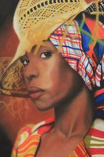 Gemälde, Sängerin, Erykah badu, Großformat