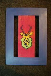 Mehrteilige schablone, Rahmen, Acrylmalerei, Malerei