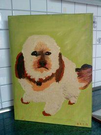 Der nachbar hund, Malerei, Tiere, Hund