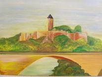 Burg, Malerei, Halle