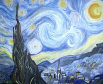 Nacht, Malerei, Gogh