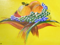 Obst, Küche, Malerei, Stillleben
