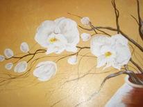 Orchidee, Malerei