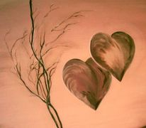 Herz, Doppelherz, Malerei, Schatz