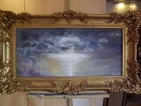 Alt, Wolken, See, Malerei