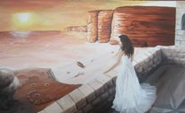 Küste, Felsen, Ölmalerei, Steilriff