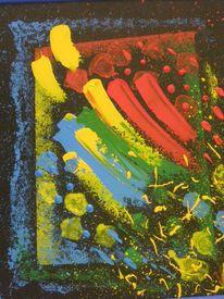 Schwarzer hintergrund, Grün, Acrylmalerei, Platte