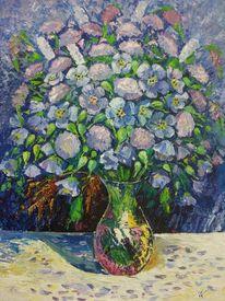 Blumen, Blau, Vase, Blumenstrauß