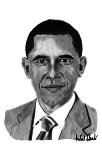 Barack obama, Usa, Präsident, Digitale kunst