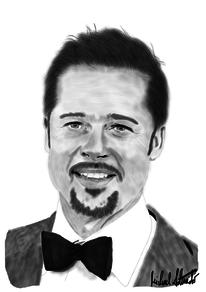 Schauspieler, Brad pitt, Digitale kunst, Figural