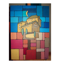 Acrylmalerei, Blankenheim, Kubisch, Burg