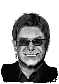 Sänger, Elton, Digitale kunst, Figural