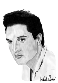 Digital, Zeichnung, Elvis presley, Digitale kunst