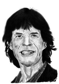 Jagger, Rolling stones, Digitale kunst, Figural