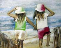 Wasser, Kinder, Schwimmen, Malerei