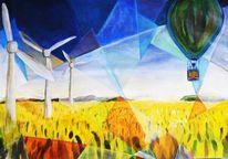 Windkraft, Experimentell, Feld, Licht und luft