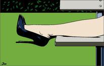 Erotik, Schuhe, Illustration, Illustrationen