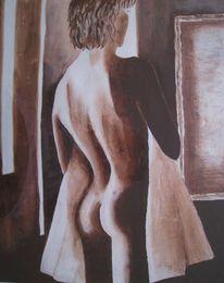 Spiegel, Rücken, Akt, Körper