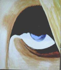 Zornig, Wutanfall, Blau, Augen
