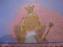 Flieder, Glitzer, Kleiner engel, Lila